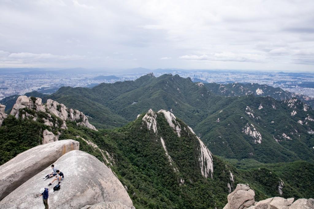 北漢山 頂上からの眺め4