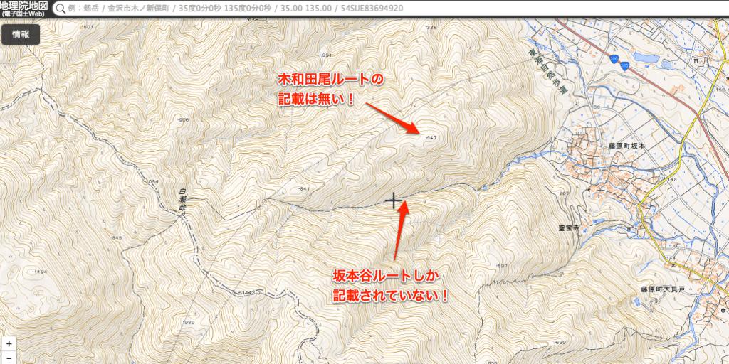 国土地理院地図 藤原岳