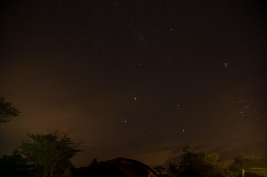 うるぎ星の森オートキャンプ場の星空