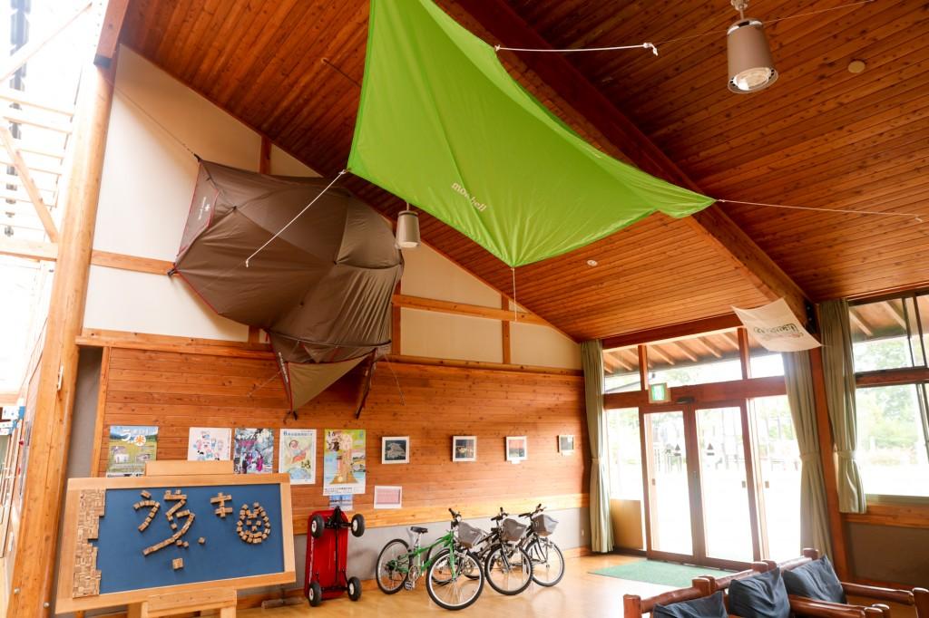 うるぎ星の森オートキャンプ場 センターハウス内部