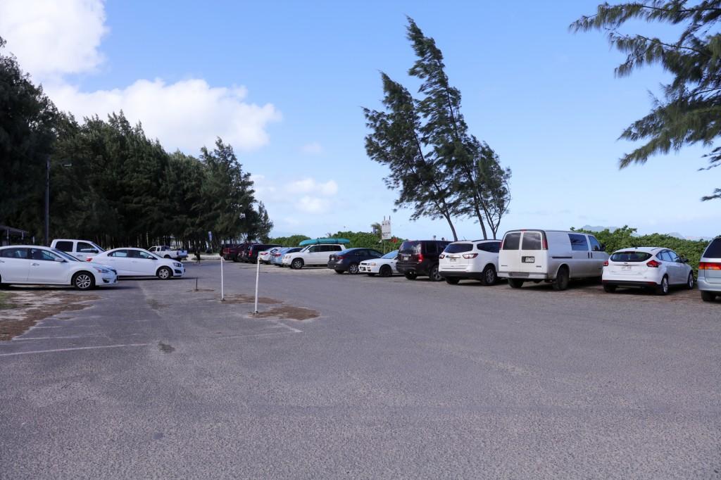 カイルア ビーチ パーク 駐車場2