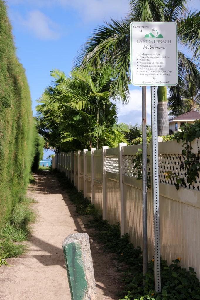 ラニカイビーチへの通路4番
