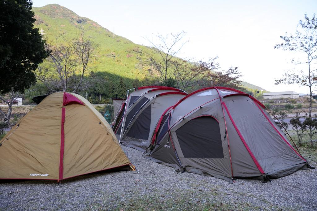 キャンプinn海山 テント設営後