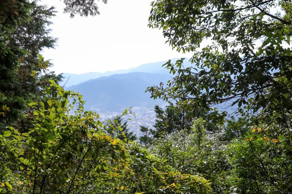 熊野古道 馬越峠からの眺め