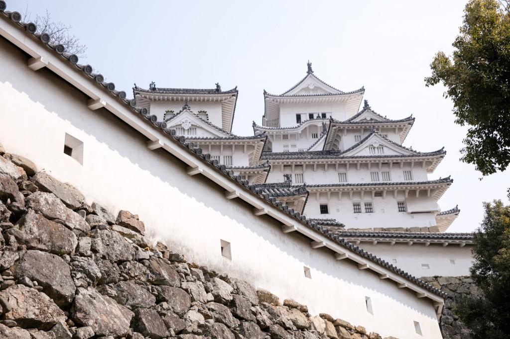 姫路城への道