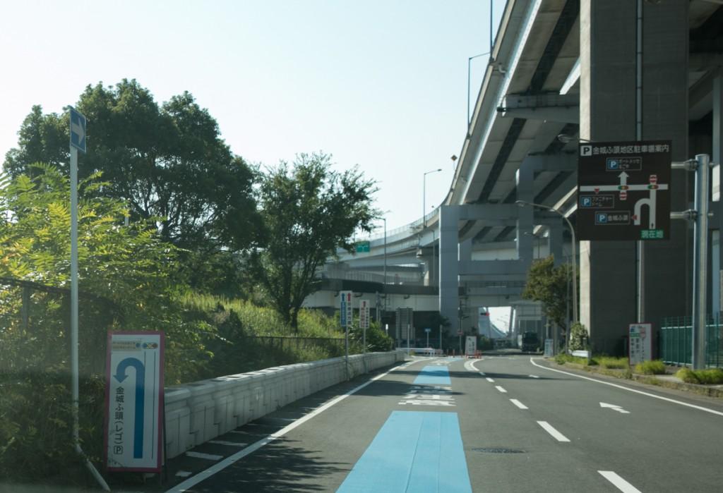 レゴランド・メイカーズピア駐車場へのアクセス 高速道路から3