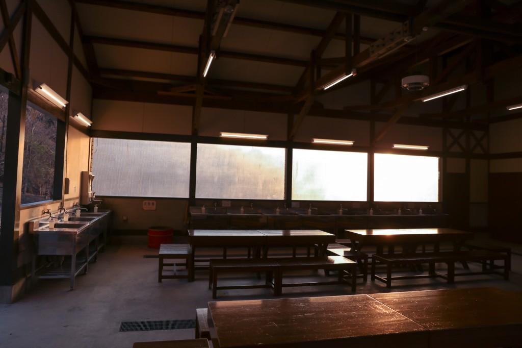 青川峡キャンピングパーク 炊事場