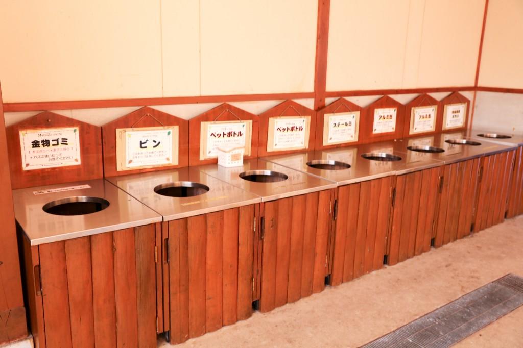 青川峡キャンピングパーク ゴミ捨て場
