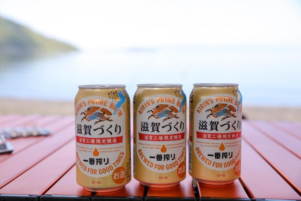 高木浜オートキャンプ場 琵琶湖を見ながら乾杯