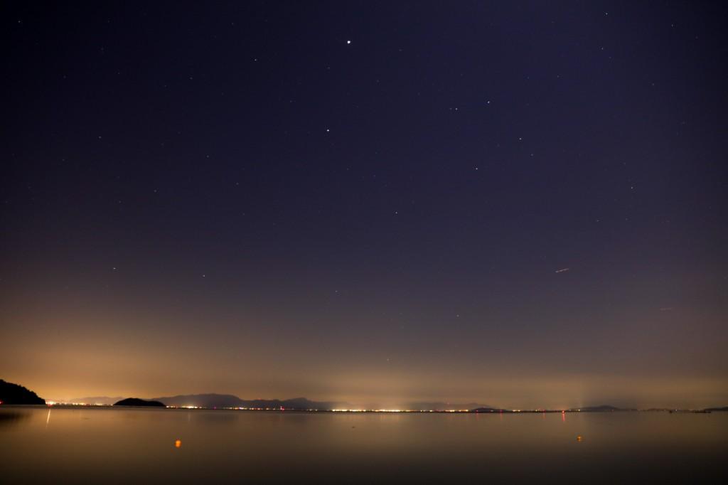高木浜オートキャンプ場 静かな夜の琵琶湖2