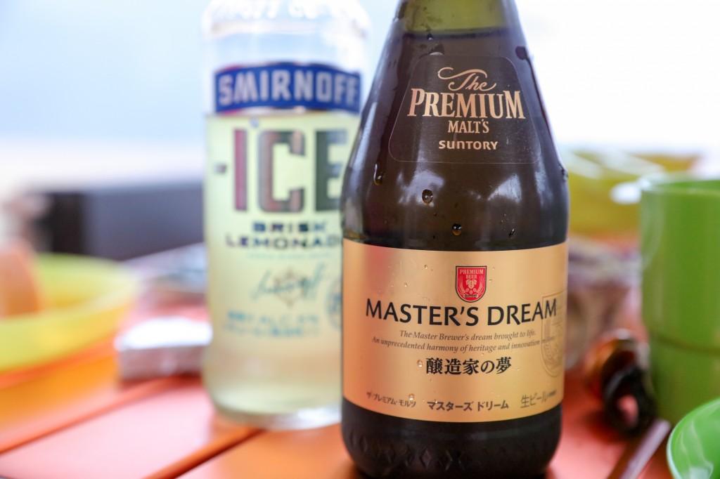 高木浜オートキャンプ場 琵琶湖を見ながら乾杯2