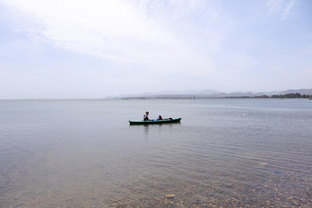 知内浜オートキャンプ場 カヤック体験 出発