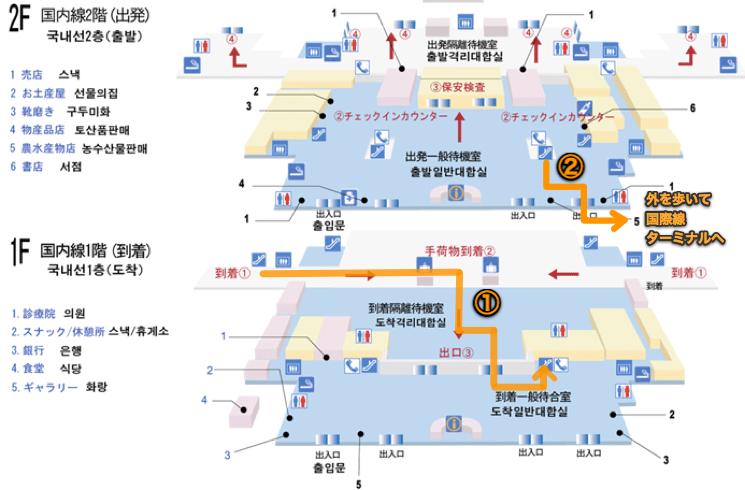 釜山 金海空港 国内線 フロアマップ