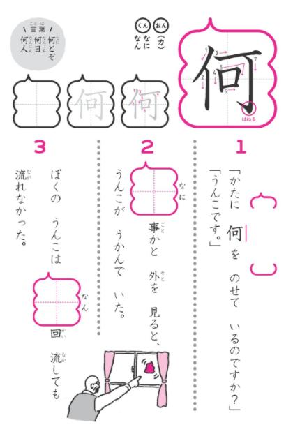 うんこ漢字ドリル2年「何」