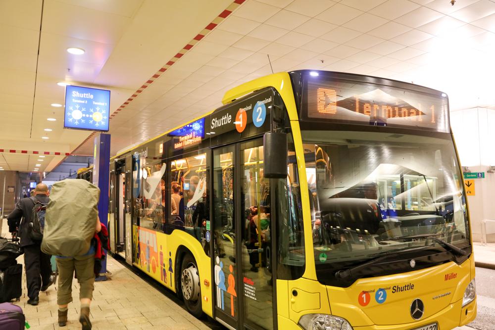 フランクフルト国際空港 ターミナル2 バス