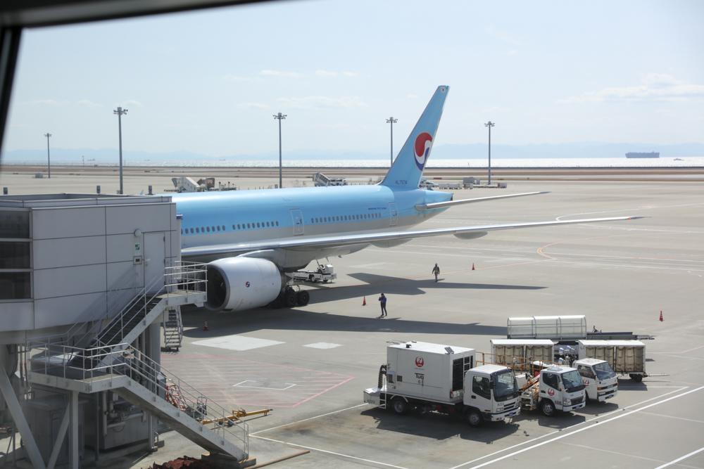 セントレア 大韓航空機
