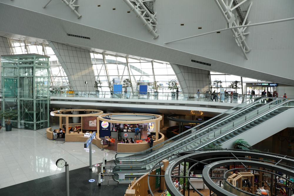 仁川国際空港 鉄道駅付近