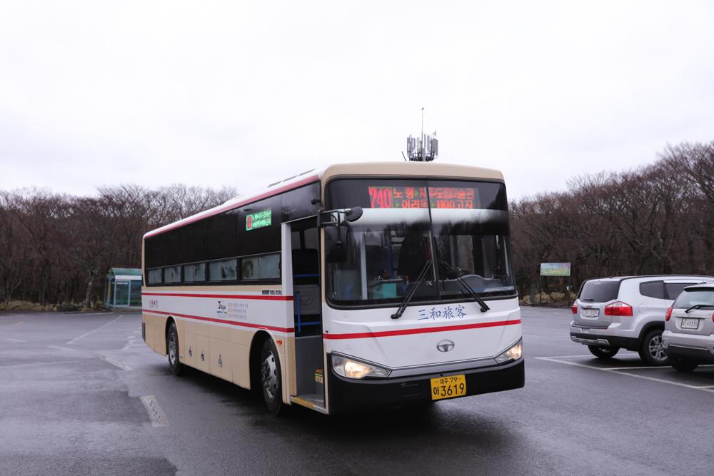 漢拏山行き740番バス