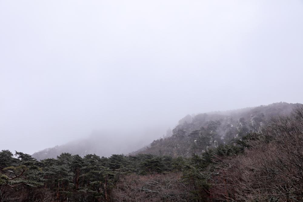 霊室登山口からの漢拏山