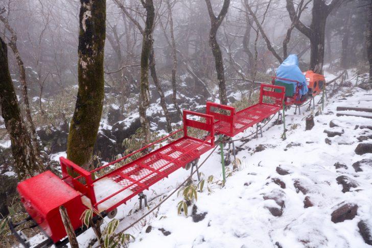 漢拏山 オリモクルート 運搬車1