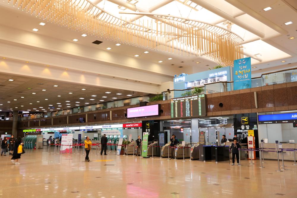 釜山 金海空港 国内線 出発ロビー