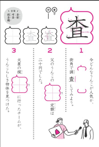 うんこ漢字ドリル5年「査」