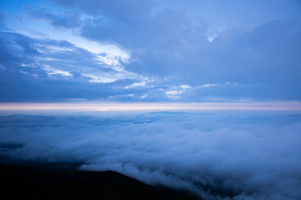 富士宮口 新七合目 御来光山荘 からの眺め2