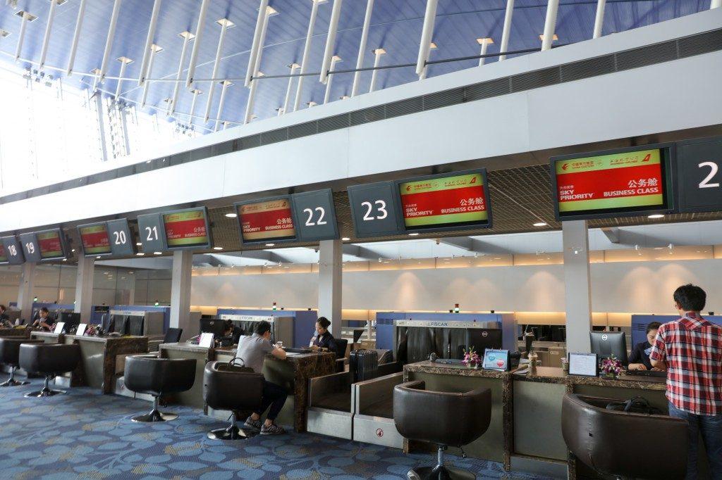 上海浦東空港 中国東方航空 カウンター