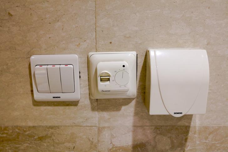 グランドメルキュール上海虹橋 客室2501 洗面所 スイッチ