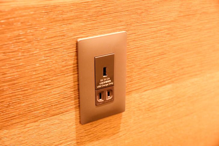 セントレア プレミアムラウンジ コンセント&USB