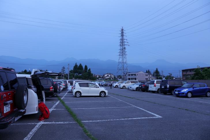 穂高駅周辺 登山者用 無料駐車場1