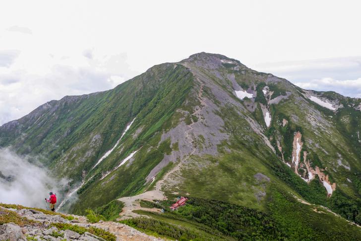 常念岳への稜線歩き