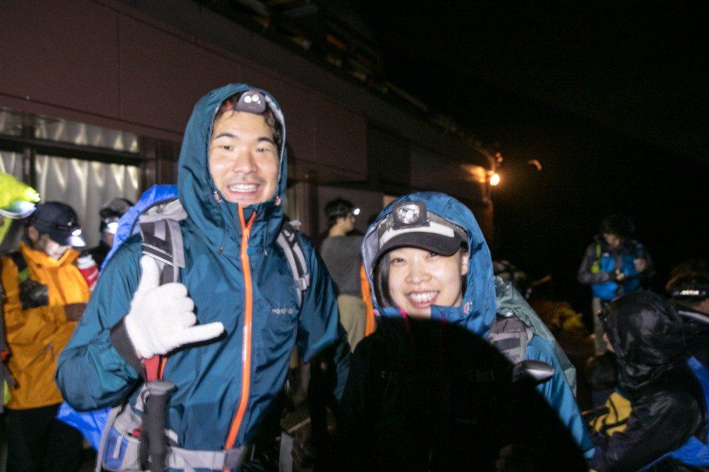 富士宮口 新七合目 御来光山荘を出発