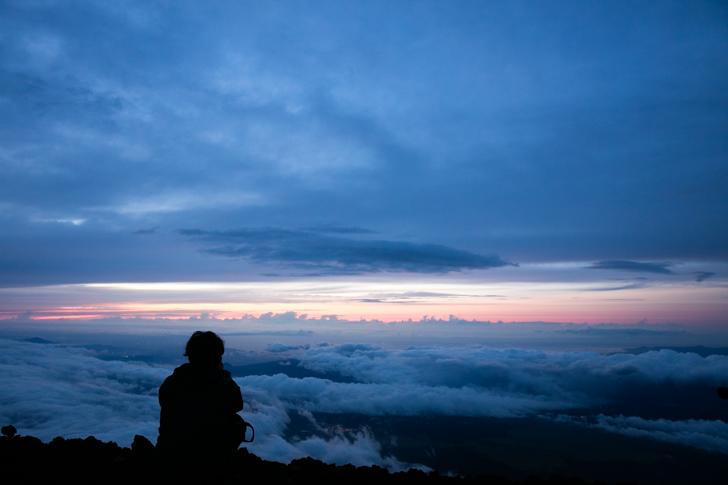 富士山 御来光とポーターHさん