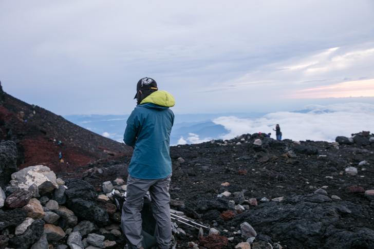 富士山 頂上 ケルン