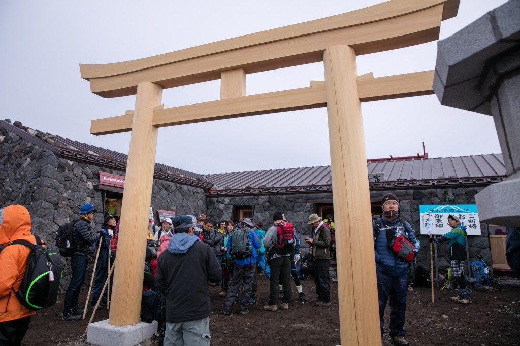 富士山 富士宮口頂上 鳥居