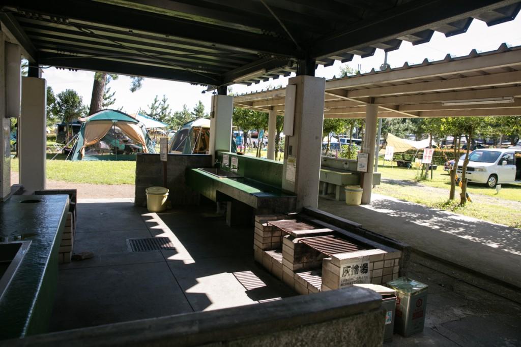 知内浜オートキャンプ場 炊事場1