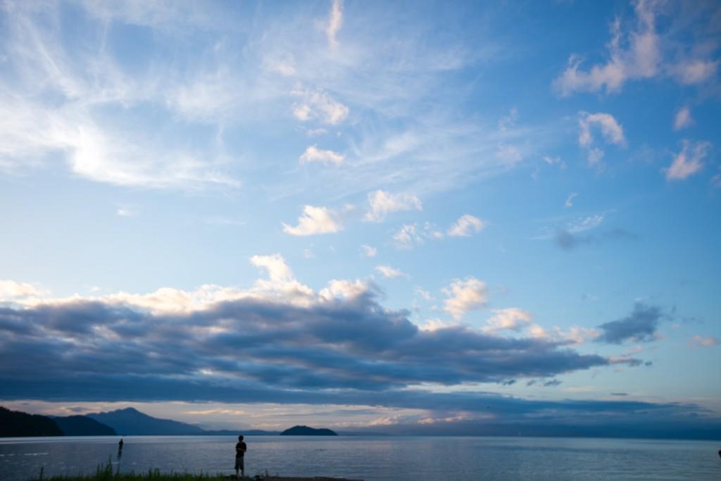 知内浜オートキャンプ場 日の出3