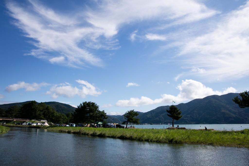 知内浜オートキャンプ場 フリーサイトからの景色