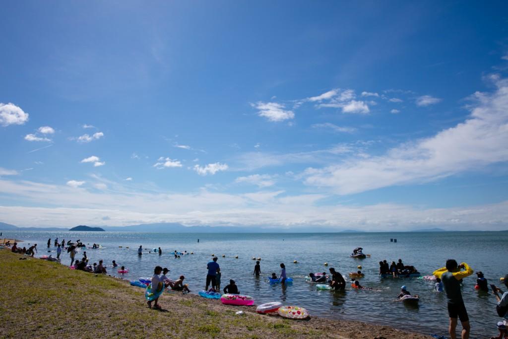 知内浜オートキャンプ場 遊泳場3