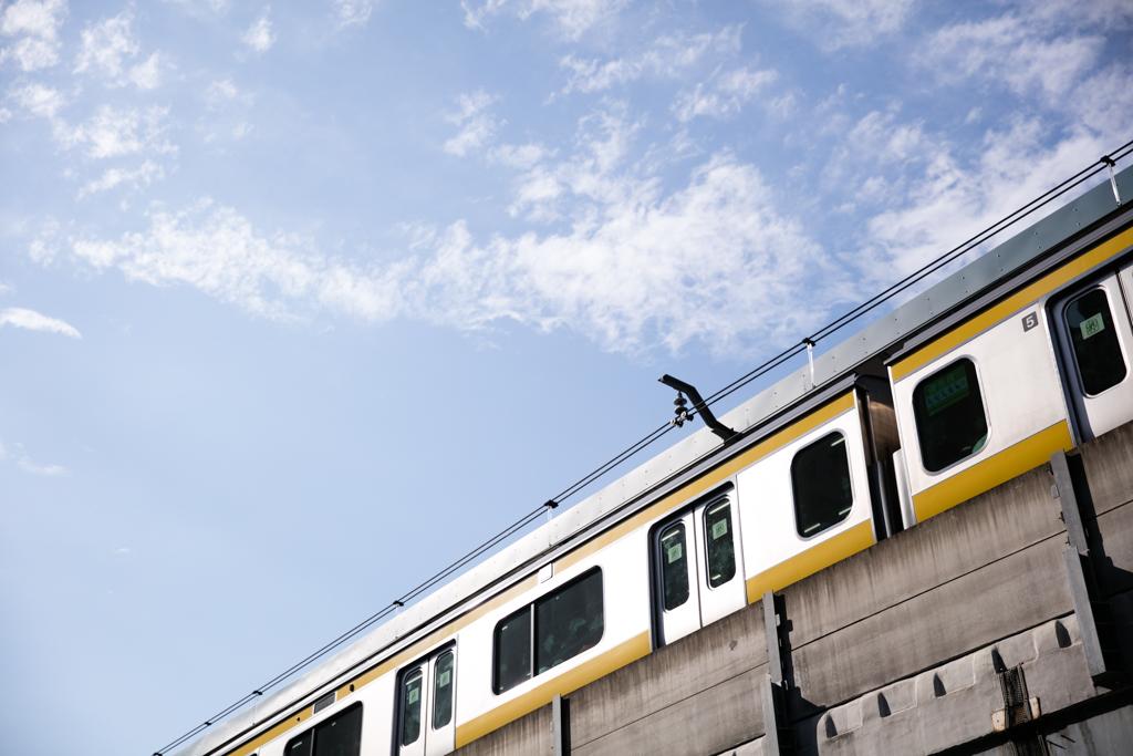 両国駅の電車(元画像)