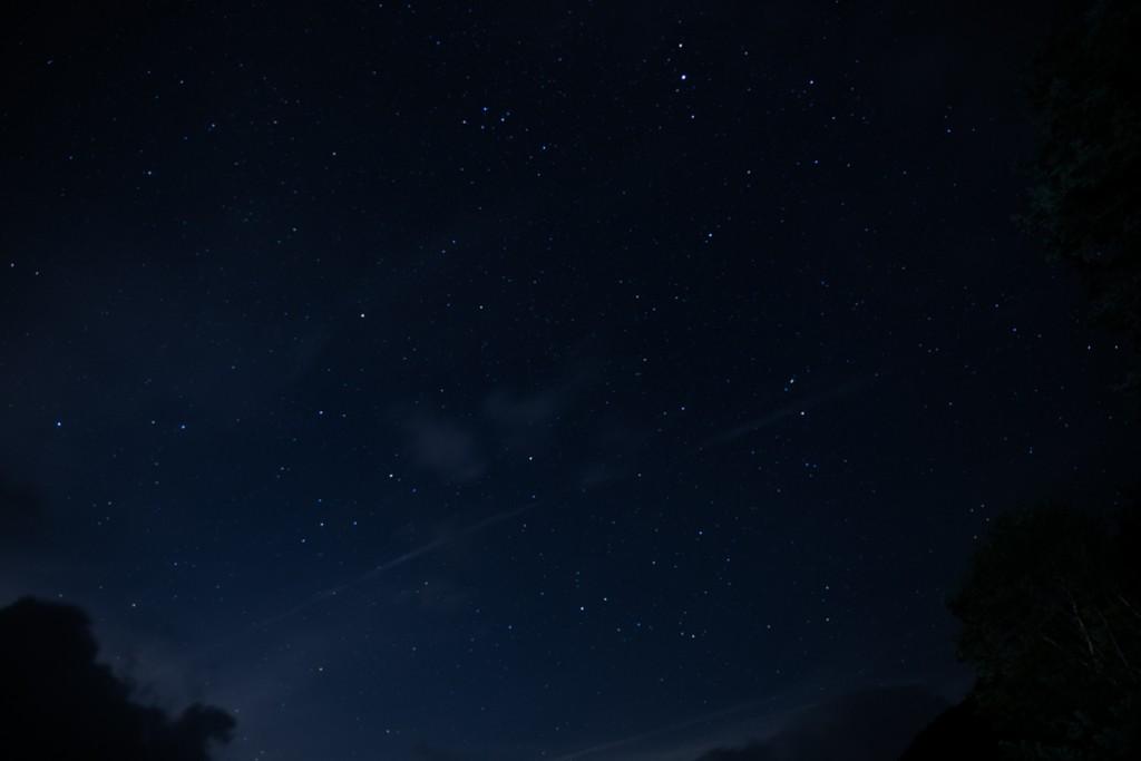 大門沢小屋からの星空