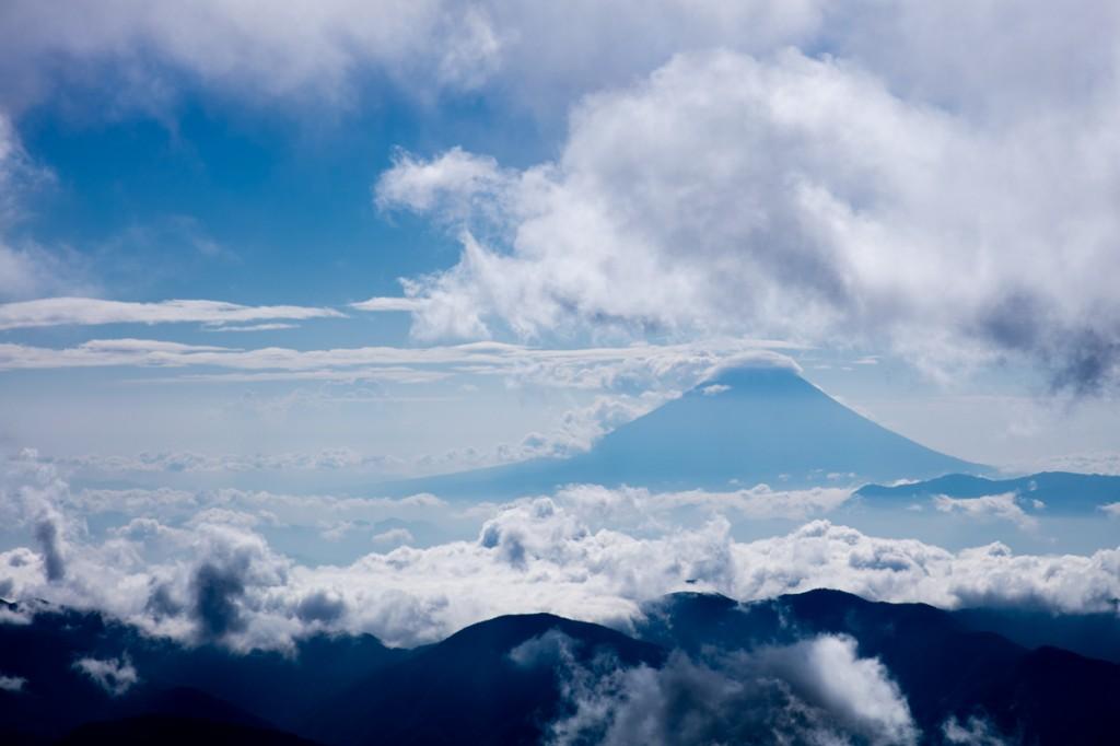 大門沢下降点から見る富士2