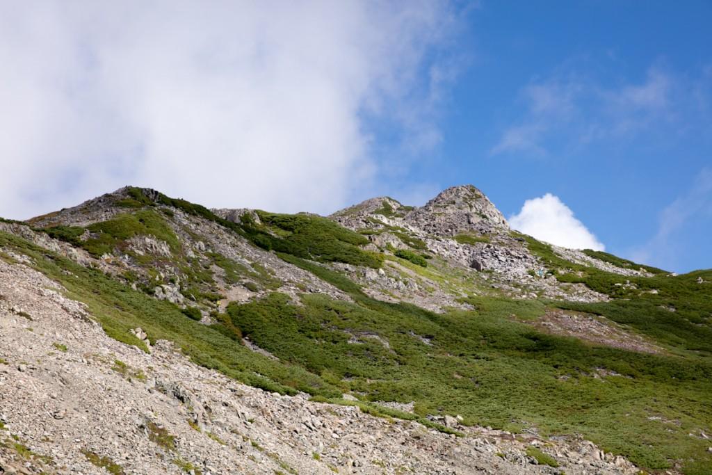 農鳥岳への道