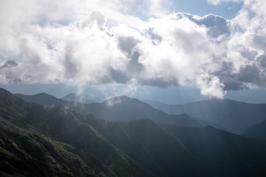 南アルプスの山々