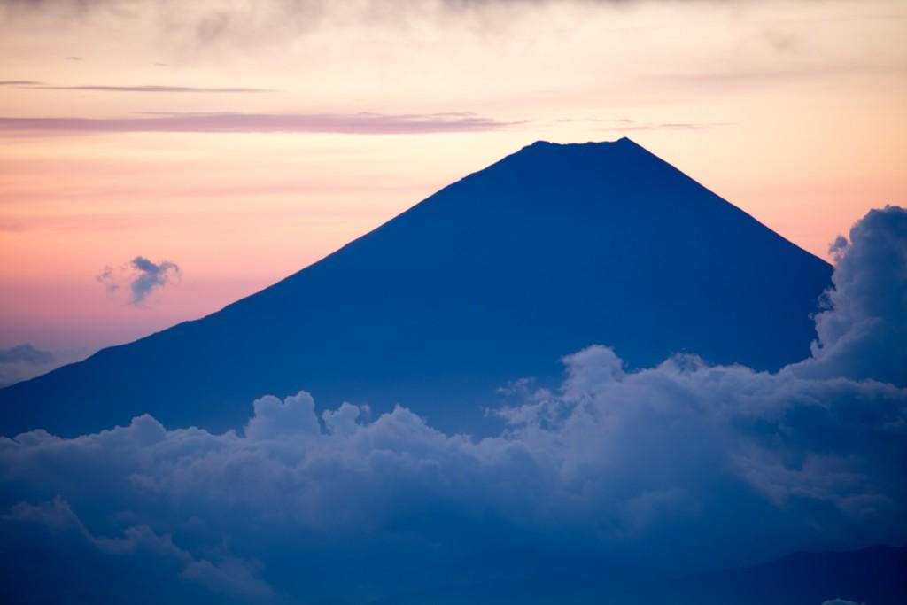 中白根山からの富士山