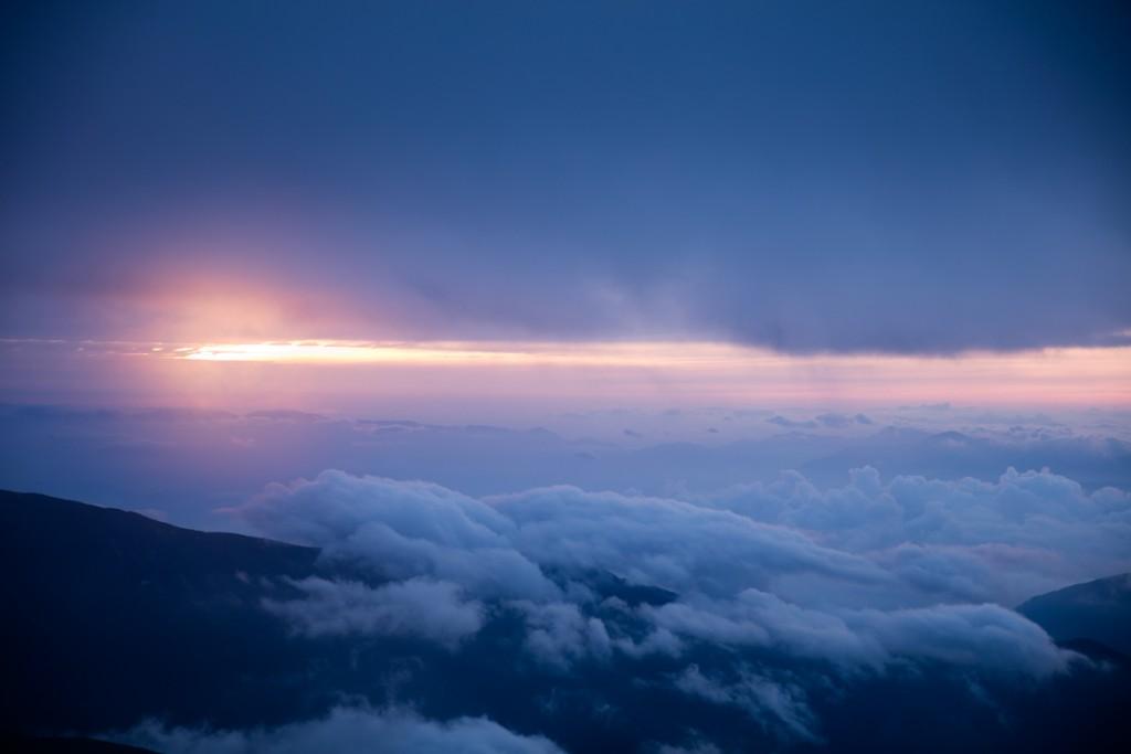 中白根山からの日の出