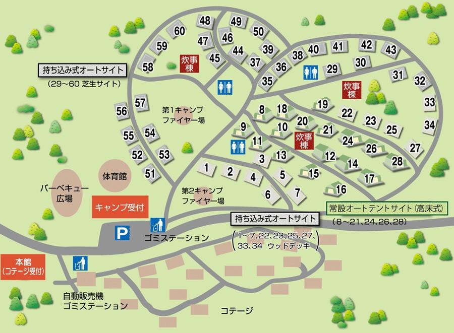 伊良湖キャンプ場 サイトマップ