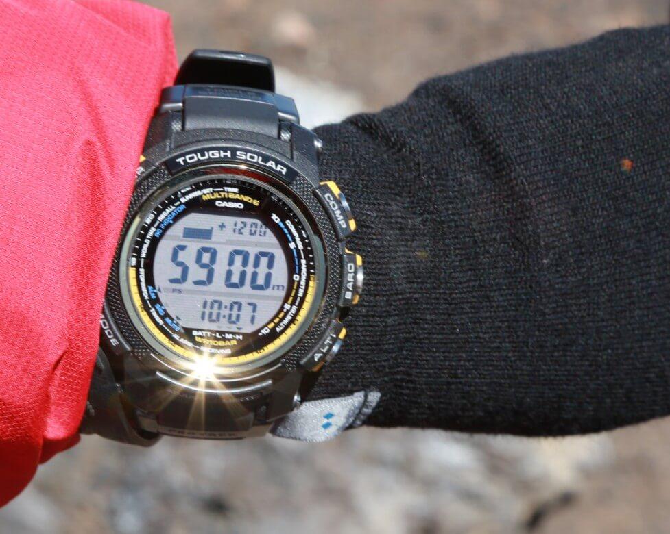 キリマンジャロ 山頂の高度