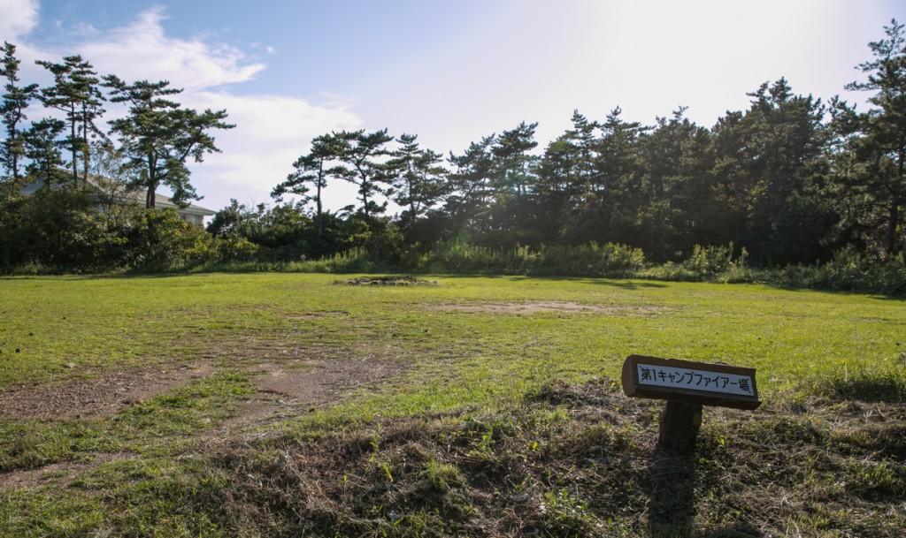伊良湖キャンプ場 フリーサイト1